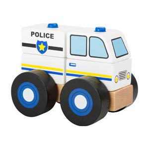 bouwvoertuig politie