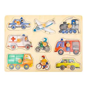 Puzzel voertuigen in de stad